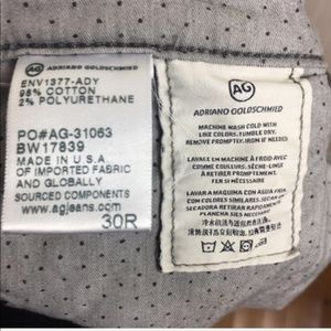 AG Adriano Goldschmied Pants - Adriano Goldschmied Gray Stevie Ankle Corduroy 30
